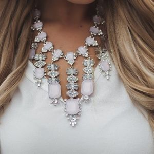 Jewelry - Vici sparkly pink and silver statement necklace